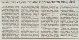Karlovarský deník - 15. února 2011