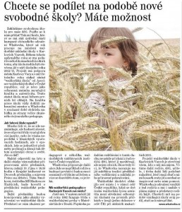 Karlovarský deník - 15. října 2011